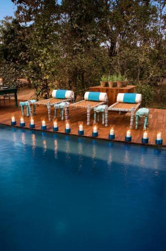 The swimming pool at or near Baghvan Pench National Park - A Taj Safari Lodge