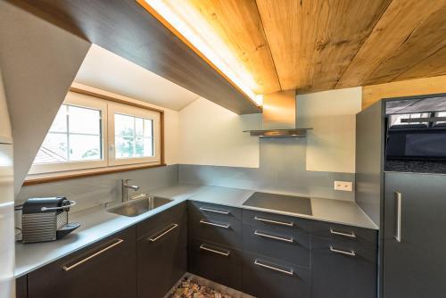 Küche/Küchenzeile in der Unterkunft Hof Mazenau