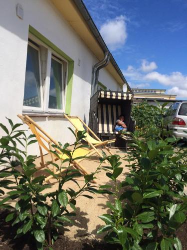 Ein Patio oder anderer Außenbereich in der Unterkunft Backpackers Inn Rostock