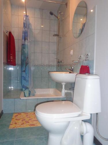 Vannas istaba naktsmītnē Brīvdienu māja Audas