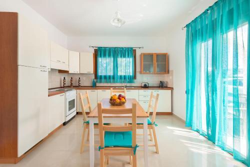 A kitchen or kitchenette at Sea View Rhodos Villas