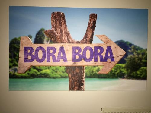 A certificate, award, sign, or other document on display at B&B Bora Bora