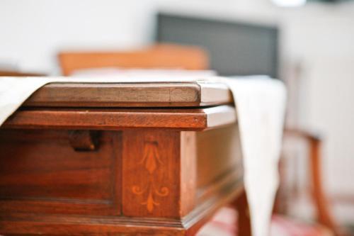 Ein Etagenbett oder Etagenbetten in einem Zimmer der Unterkunft Einhornhaus