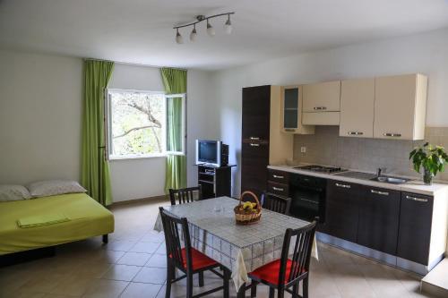 A kitchen or kitchenette at Apartments Antunović