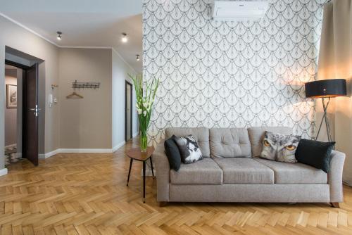 הלובי או אזור הקבלה ב-Luxe Living Krakow