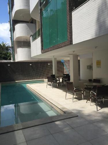 Uma varanda ou outra área externa em Apartamento Capitães de Areia Ilheus