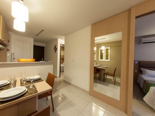A cozinha ou cozinha compacta de Beach Class Residence Service