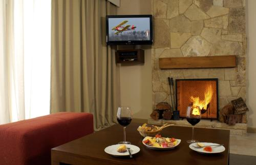 A television and/or entertainment center at Village Condo