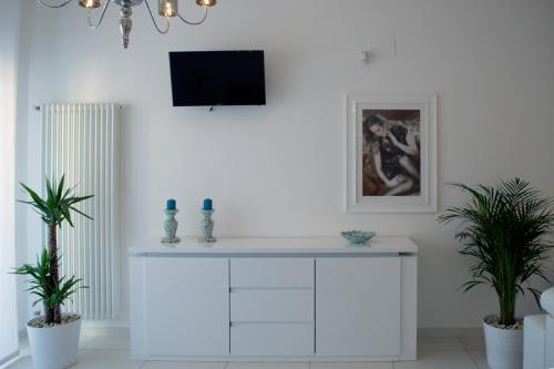 En tv och/eller ett underhållningssystem på Artist's suite