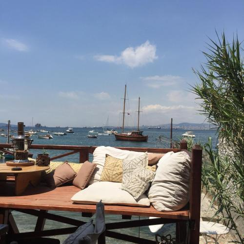 A porch or other outdoor area at Tuzla Yacht Club