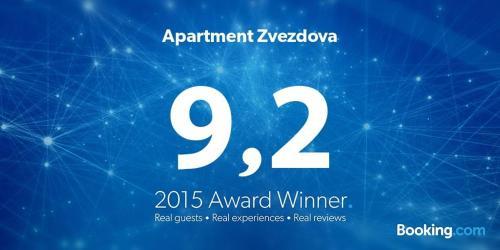 Сертификат, награда, вывеска или другой документ, выставленный в Apartment Zvezdova