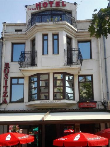 The facade or entrance of Hotel Rositsa