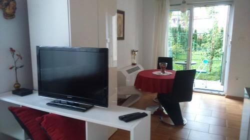Télévision ou salle de divertissement dans l'établissement Vila Ema Apartments and Rooms