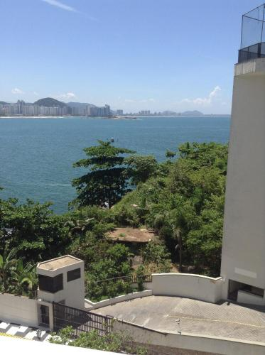 A balcony or terrace at Guaruja Apartment