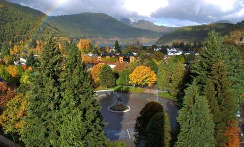 Una vista aérea de Casa de Alquiler Cumelen