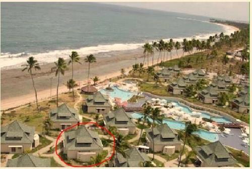 Uma vista aérea de Beach Class Bangalô Premium