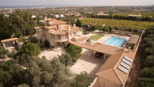 A bird's-eye view of Villa Metaxas