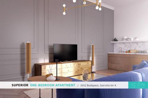 TV in/ali zabaviščno središče v nastanitvi Fashion Street by ICON Collection