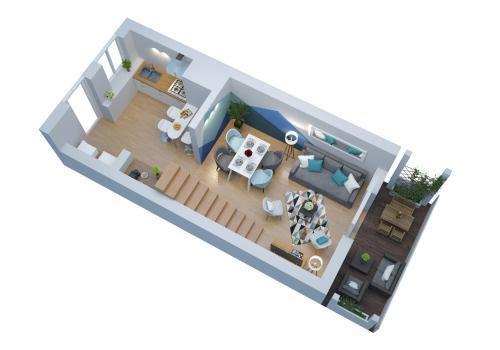 The floor plan of Duplex Saint Jean - Parking - SuperBordeaux