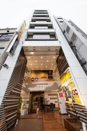 The building where the capsule hotel is located