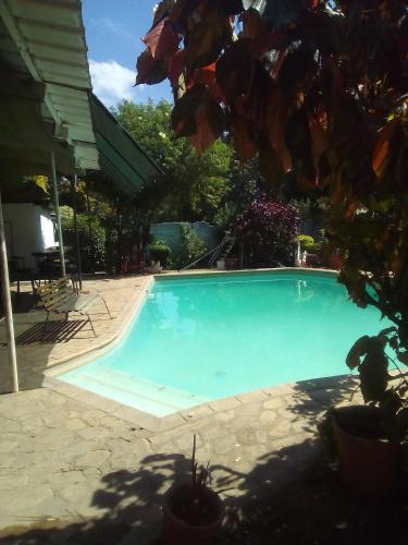 The swimming pool at or near Fish Eagle Backpackers