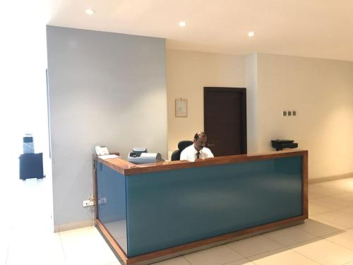 The lobby or reception area at Al Diafah Apartments Olaya