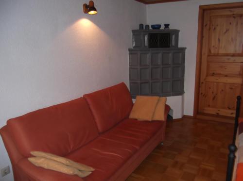 Ein Sitzbereich in der Unterkunft Ferienwohnung Luzia