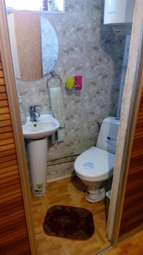 A bathroom at Paznikov's homestay Kantemirovskaya 182