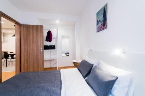 Ein Bett oder Betten in einem Zimmer der Unterkunft Vagabond Corvin