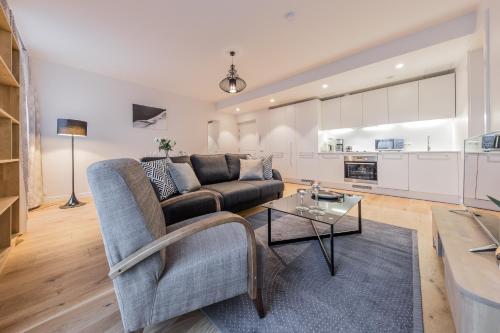 Istumisnurk majutusasutuses Pronksi 3 Apartments