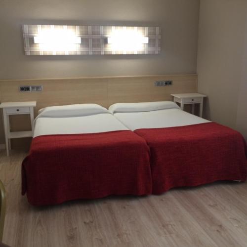 Katil atau katil-katil dalam bilik di Hotel Alaiz