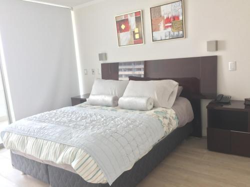 Cama o camas de una habitación en Apartamento Avenida Kennedy