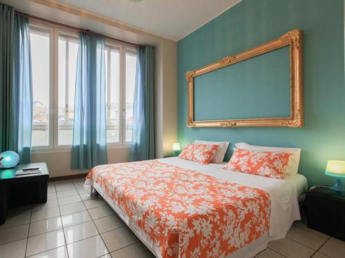 Cama o camas de una habitación en Residence Aramis Milan Downtown
