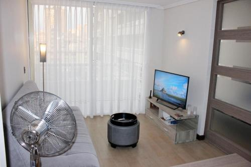 Zona de estar de Downtown Apartment Santiago