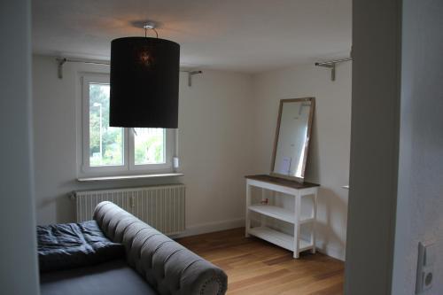Ein Sitzbereich in der Unterkunft private Ferienwohnung