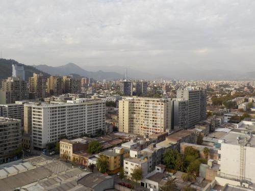 Uma vista aérea de Santiago Apartamentos Gen