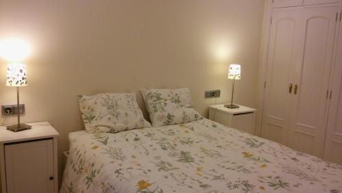 A bed or beds in a room at Apartamento Peregrina