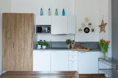 A kitchen or kitchenette at Correggio