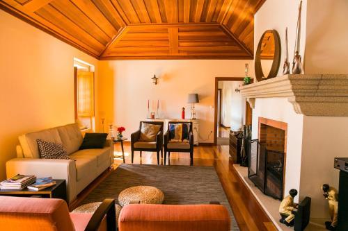 A seating area at Casa da Fidalga - Villa of 5 bedrooms