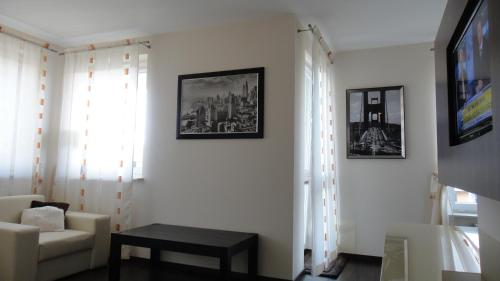 A seating area at Apartament Kolobrzeg