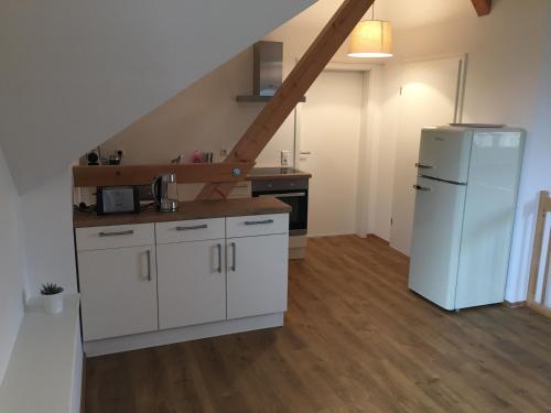 Küche/Küchenzeile in der Unterkunft Ferienwohnung Schlössle Laufenburg
