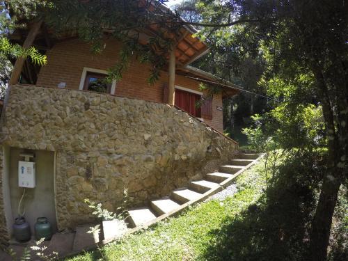 O edifício em que o chalé alpino se localiza