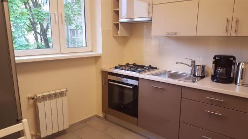 Küche/Küchenzeile in der Unterkunft Katamaran Apartment