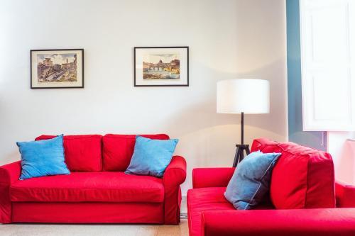 Ein Sitzbereich in der Unterkunft Casa Via Dandolo