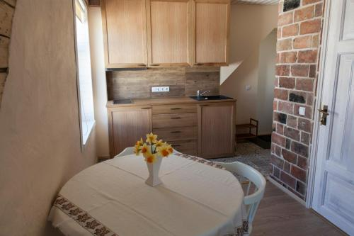Virtuve vai virtuves aprīkojums naktsmītnē Tagalahe Apartement