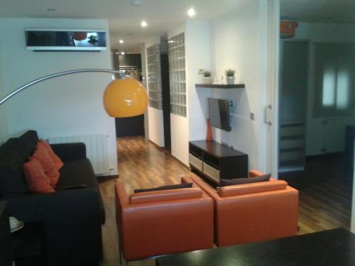 Area soggiorno di Fira Barcelona El Prat Apartment