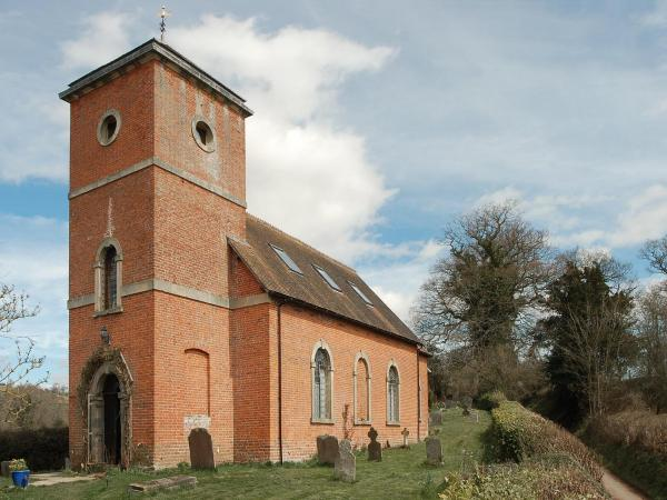 The Old Church in Hopton Cangeford, Shropshire, England