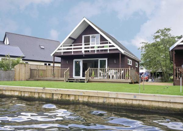 Watersedge in Wroxham, Norfolk, England