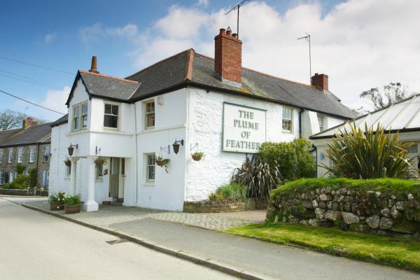 The Plume of Feathers in Mitchell, Cornwall, England