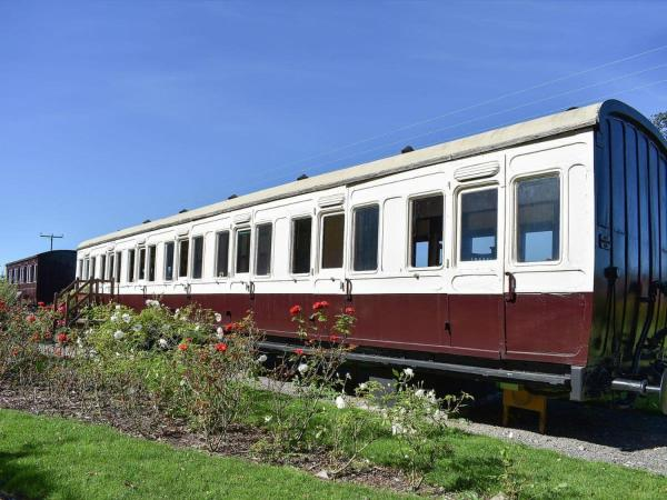 Railway Carriage Two in Occold, Suffolk, England